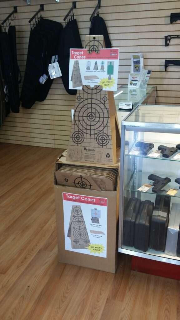Re-Nine Shooting Targets Cardboard Target Cones In-Stock Store Display