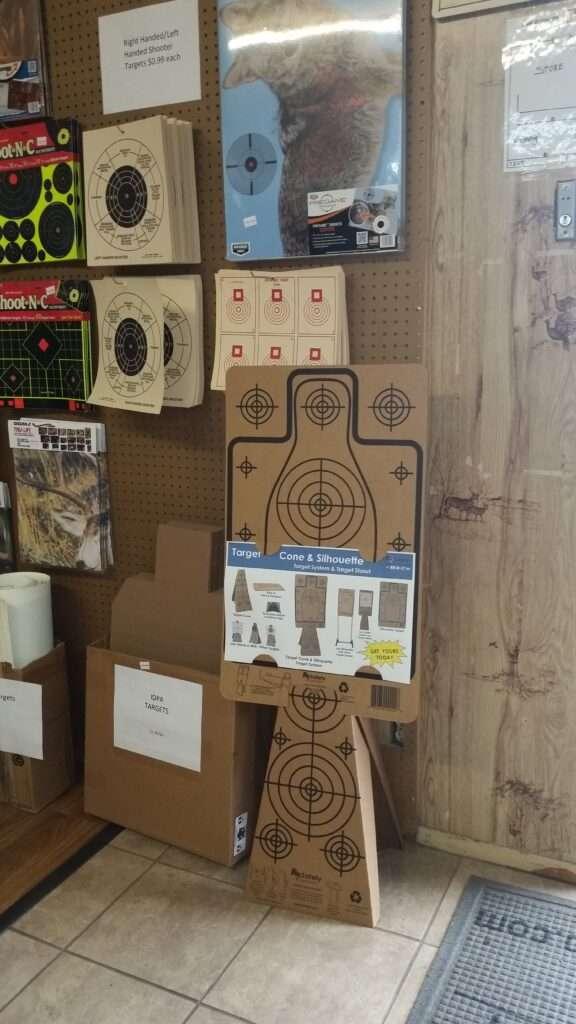 Re-Nine Shooting Targets Cardboard Target Cones & Silhouette Target Store Display
