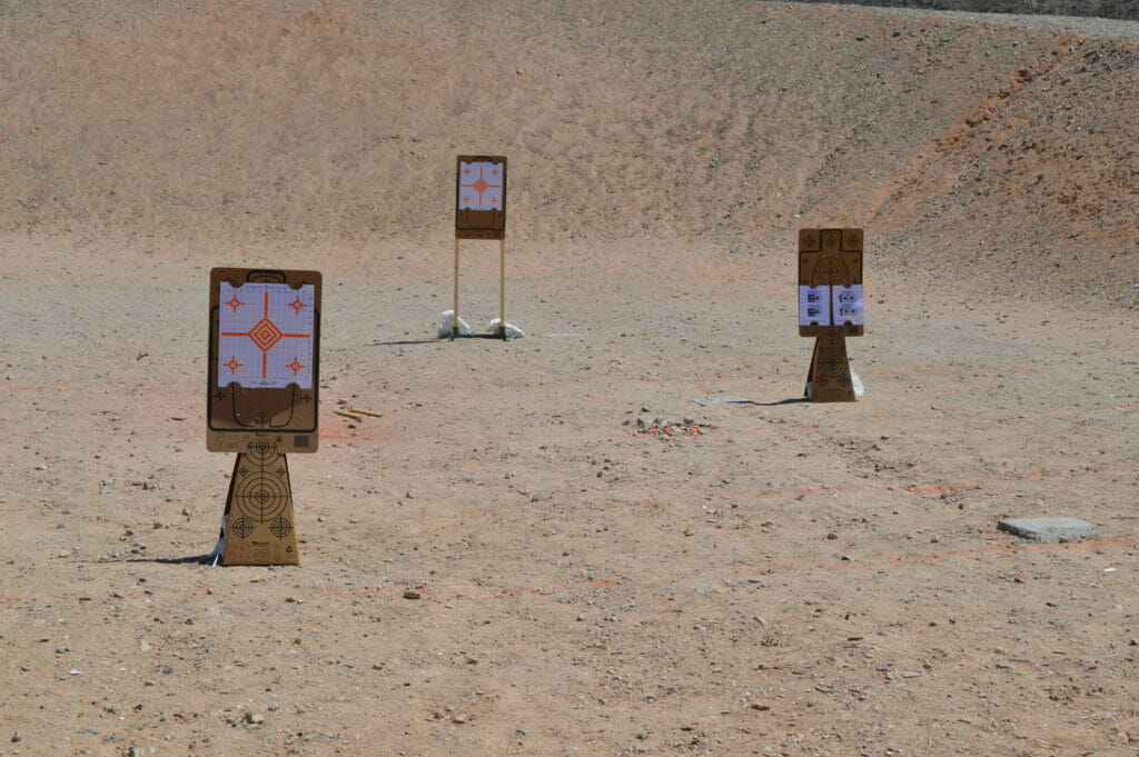 Re-Nine Cardboard Shooting Targets; Target Cones & Silhouette Targets on The Shooting Range