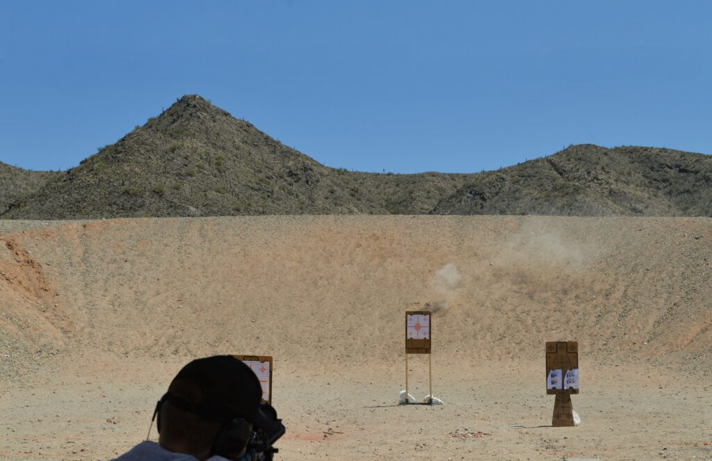 Blue Sky at the Shooting Range