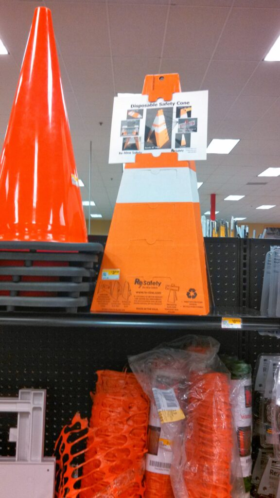 Re-Nine Safety Disposable Safety Cone In-Store Display