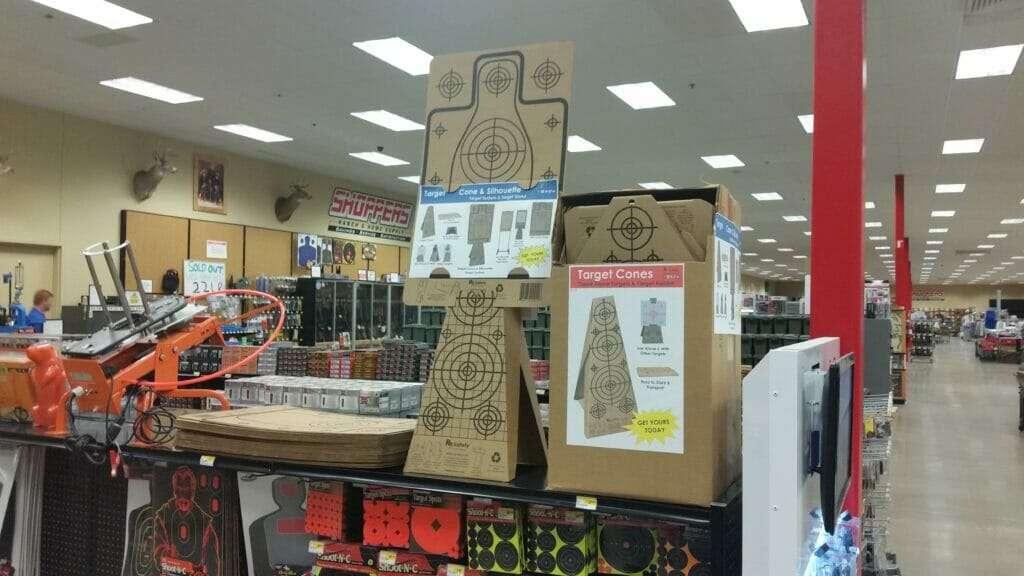Re-Nine Shooting Targets Cardboard Target Cones In-Stock, & Silhouette Targets Store Display