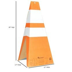 Safety Cones with Dimensions