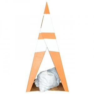 Safety Cones with Sandbag for Hold Down Weight