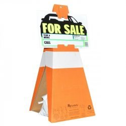Safety Cones with For Sale Sign