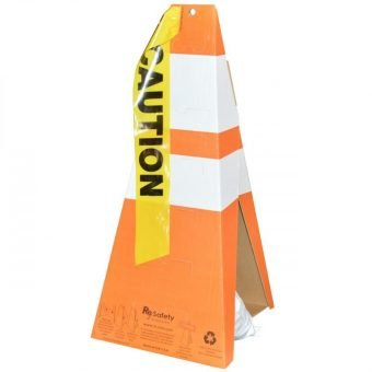 Safety Cones Showing Caution Tape Slot