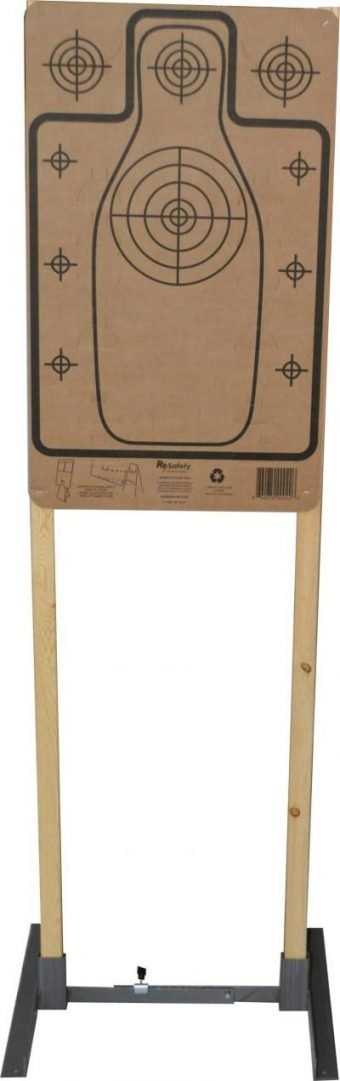 Re-Nine Safety Cardboard Silhouette Target on 1x2 Stand